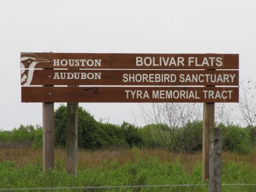 Bolivar Flats Sign