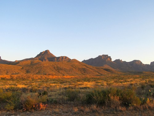 Big Bend Desert at Sunset