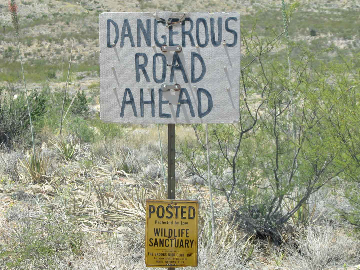 Dangerous Road Ahead