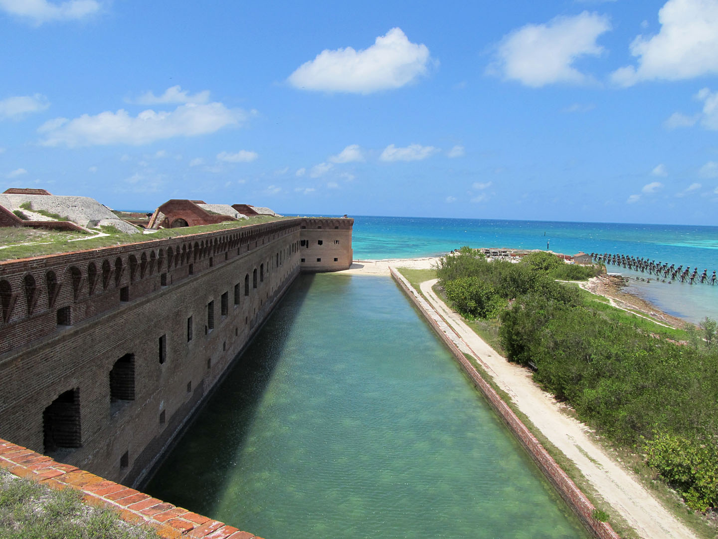 Fort Jefferson Moat