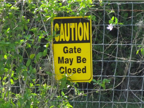 Gate May Be Closed