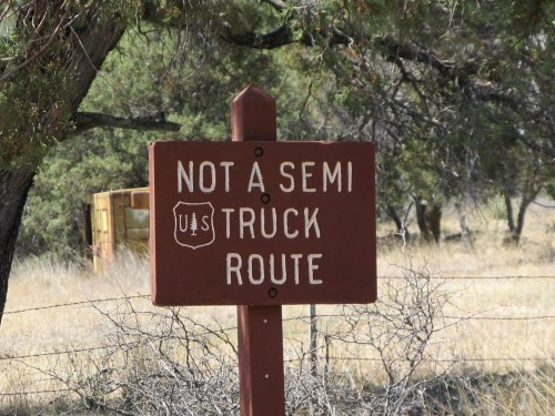 Not a semi truck route