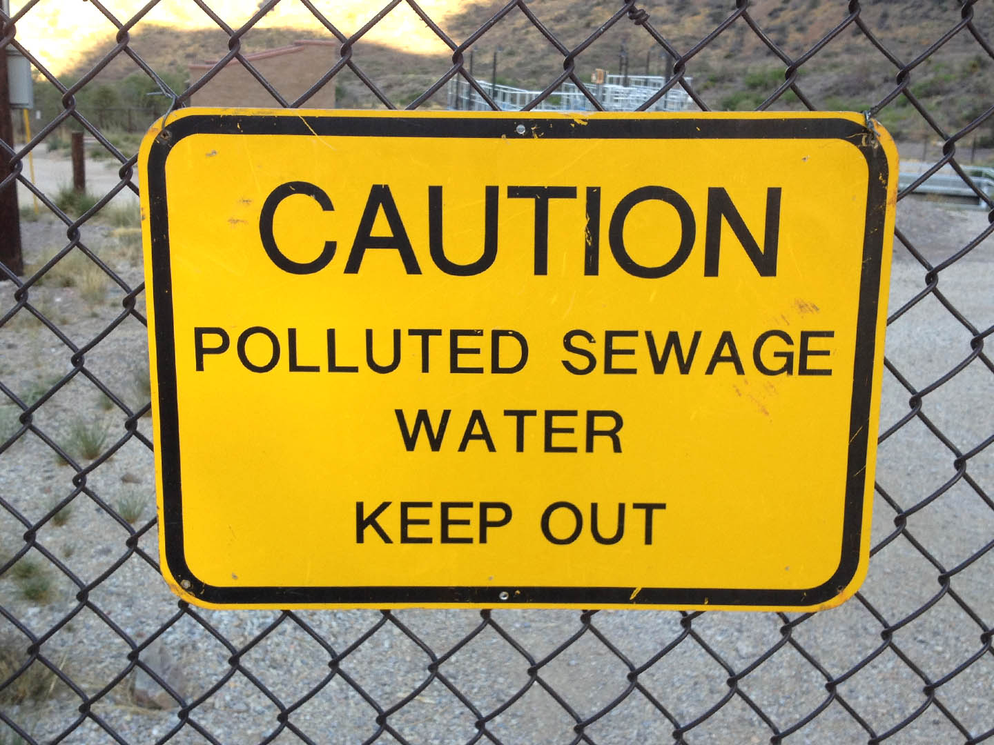 Polluted Sewage Water