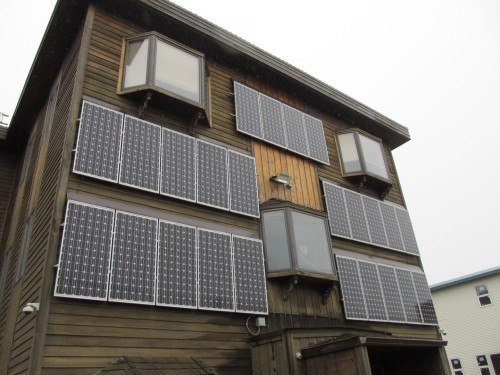 Side mounted solar panels